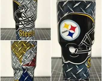 Pittsburg Steelers Custom Yeti 20 30 RTIC Cup Fully Wrapped