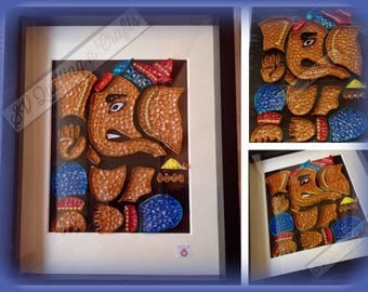 Quilled ganesha(indian elephant  god)