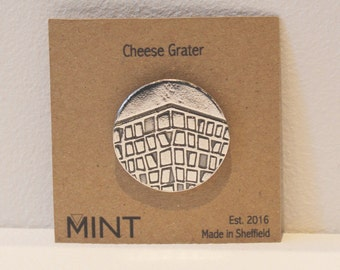 Cheese Grater Pin Brooch