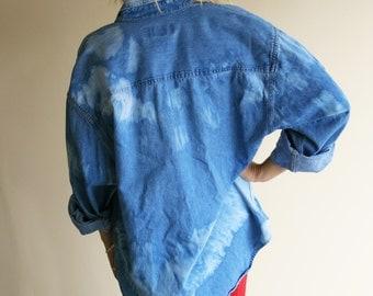 Dyed Jean Shirt