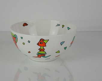 decorative porcelain bowl, storage Bowl, candy dish, cookie shell, jewelry shell, gift for him and her
