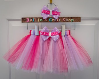 Mixed Pinks and Purple Tulle Tutu
