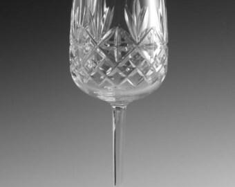 "EDINBURGH Crystal - BERKELEY Cut - Large Wine Glass / Glasses - 7"""