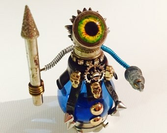 Steampunk robot warrior