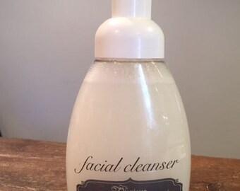 Foaming, Facial, Cleanser, handmade, artisan, essential oil, skin care, clear skin,