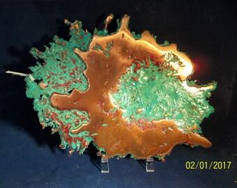 Copper splash, native Michigan copper