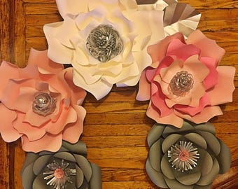 Paper Flowers Set of 5 flowers