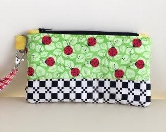 JeNoelle Ladybug Picnic Wristlet