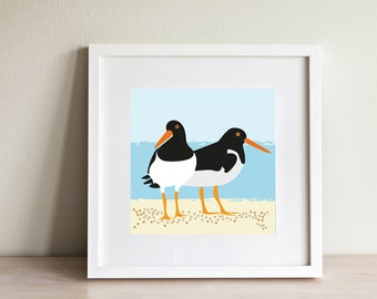 Oyster Catcher Print - contemporary design, modern prints from Scotland