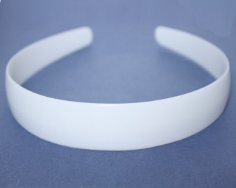 2.5cm HEADBAND CORE, white plastic aliceband centre, hair band former for your own designs. (Pack of 12)