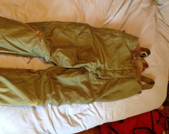 Vintage WW2 Army Air Force Lined Flight Pants Type A-9 Size 38