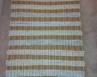 Handwoven Rag Rug - Naturals and Gold