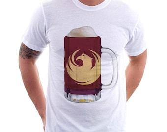 Phoenix City Flag Beer Mug Tee, Unisex, Home Tee, City Pride, City Flag, Beer Tee, Beer T-Shirt, Beer Thinkers, Beer Lovers Tee