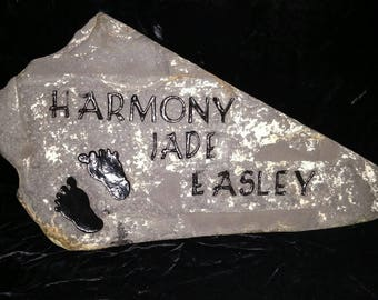 Engraved Rock for baby
