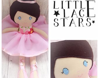 Ballerina doll, large ballerina doll, pink ballerina, brunette ballerina