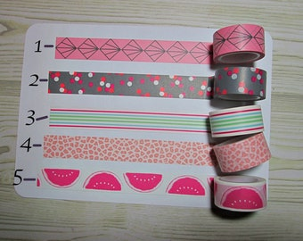 Colourful Rolls of Washi Tape