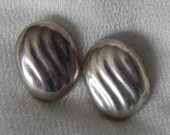 Modernist Abstract STERLING Mexico Dulce Taxco Sterling Earrings - Pierced