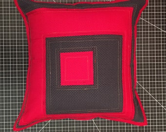 Decorative Handmade Quilted Throw Pillow