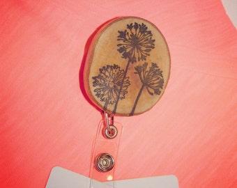 Flower badge holder