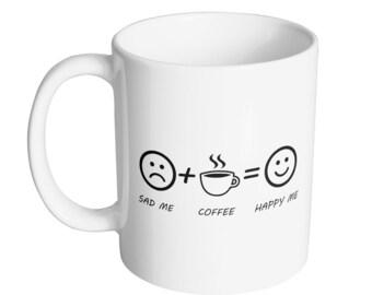 Coffee Makes Me Happy Coffee Mug - 11oz Mug - Mug King