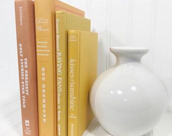 Yellow and Orange Decorative Book Set