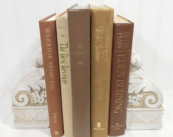 Brown Decorative Book Set