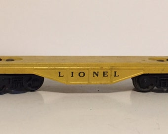 Lionel yellow flat car