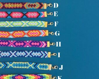 friendship bracelet, braided, wrap, handwoven summer gift, friendship jewelry, aztec, native, best friend gift