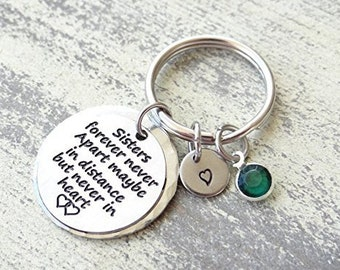 Sister Keychain,gifts for her, sisters, best friends, unique gifts, Sister Valentines Day Gift
