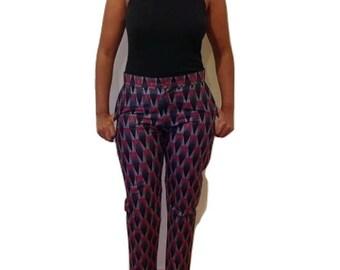 Papang Print Slim Leg Trousers