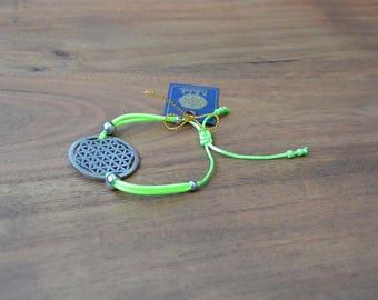 Flower of Life Bracelet - Sacred Geometry - Stainless Steel - Green of Blue