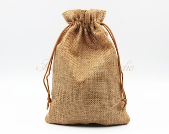 """10pcs Burlap Bags 5""""x7"""", Jewelry Bags, Gift Bags, Burlap Favor Bags, Jute Bags, Party Favor Bags, Wedding Gift Bags, Jute Favor Bags"""