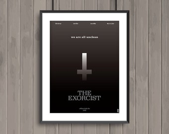 THE EXORCIST, minimalist movie poster