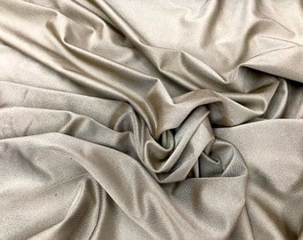 """Solid Lycra Spandex Fabric 4-Way Stretch By The Yard 60"""" Wide Available In Five Colors"""