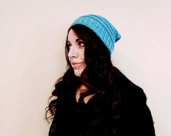 Handknit slouchy hat