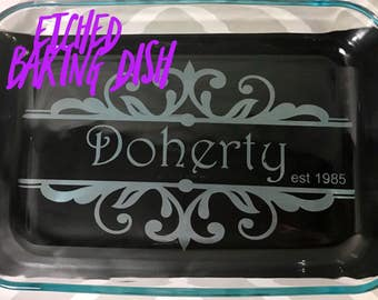 Etched Baking Dish