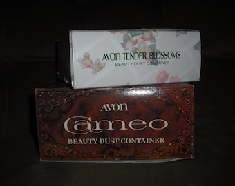 AVON vintage collectable powder containers