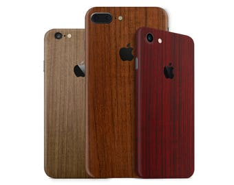 Fine Wood Phone Skin Wrap Decal for the iPhone 7, 7 Plus, 6, 6s Plus, 5/5s/5c/SE & 4 in Multiple Colors