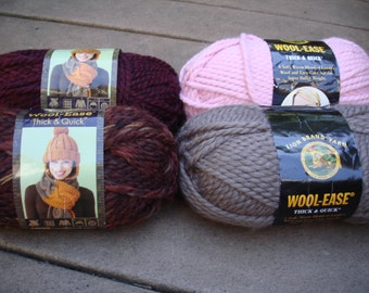 BULKY - Lion Brand® Wool-Ease® Thick and Quick® Yarn Pt 2 - Please look at description for colors available