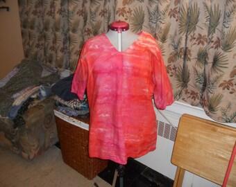Orange Hi-Low Shirt/Dress