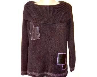 Vintage Lauren Vidal ® Paris women top blouse sweater size L