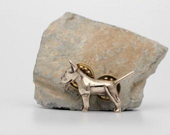 Vakkancs Bullterrier pin (solid pronze)