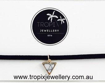 Marble Triangle Choker