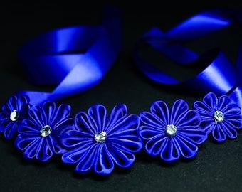 Blue Kanzashi Necklace for Girl / Woman