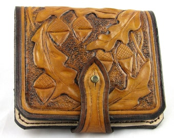 Leather cartridge box engraved, Cartridge pouch, Handmade hunting Cartridge pouch,