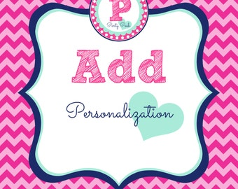 Add Personalization to any listing from Party Posh Prints