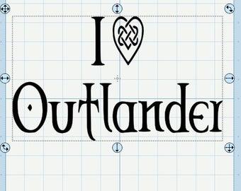 I Love Outlander SVG