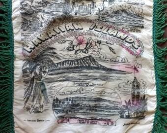 Vintage Hawaiian Islands pillowcase