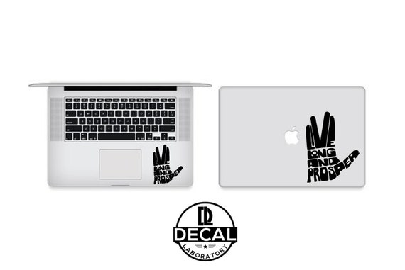 Vinyl Decal Sticker - Live Long and Prosper Star Trek decal for Windows, Cars, Laptops, Macbook, Yeti, Coolers, Mugs etc