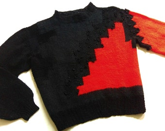 80's wool SwEaTer 146/152 wool 70s Angora RetRo VinTage size xs